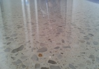 white polished concrete